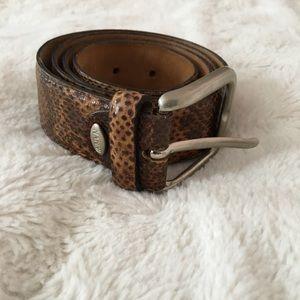 Nanni leather belt